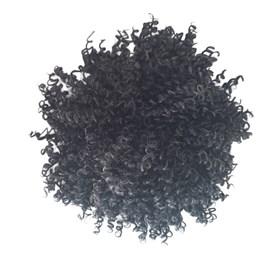 Aplique Coque Afro Puff P90, Fibra Orgânica, Cor F1B/60-30% Grisalho