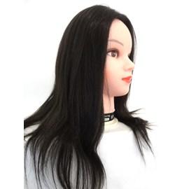 """Cabeça de Boneca para Treino de 16"""" Fios de 40,6 cm Cabelo Sintético Castanho Escuro - Face Feminina"""