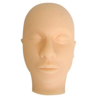 Cabeça Emborrachada e Máscara para Treino de Maquiagem