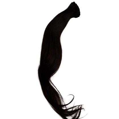Cabelo Humano na Tela LISO Castanho Escuro - 70cm