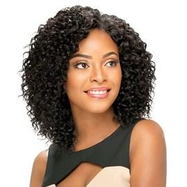 Fibra Orgânica Modelo Ripple, na Tela Fibra 100% Human Hair, Cachos Definidos