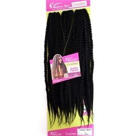 Fibra para Crochet Braid Modelo Sara Twist 60cm, Cor 1
