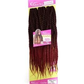 Fibra para Crochet Braid Modelo Sara Twist 60cm, Cor T1B/BUG