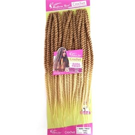 Fibra para Crochet Braid Modelo Sara Twist 60cm, Cor T27/613