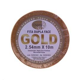 Fita Adesiva GOLD Dupla Face Rolo 10m x 2,54cm