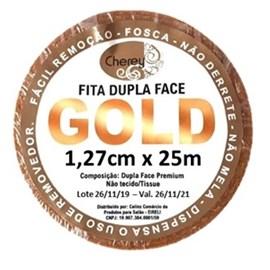 Fita Adesiva GOLD Dupla Face Rolo 25m x 1,27cm