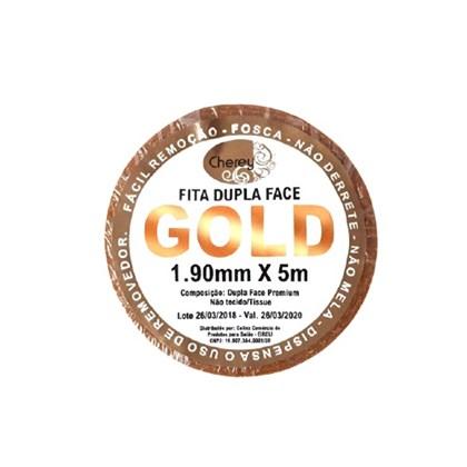 Fita Adesiva GOLD Dupla Face Rolo 5m x 1,90cm