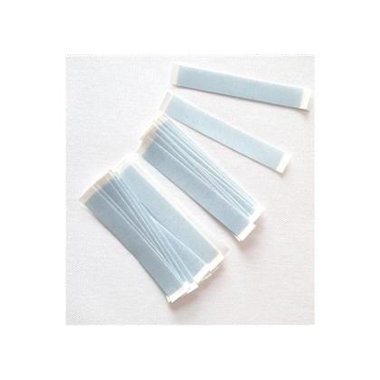 Fita Adesiva Lace Front Straight Strips Azul Aderência Forte Tira Reta - 36 Peças