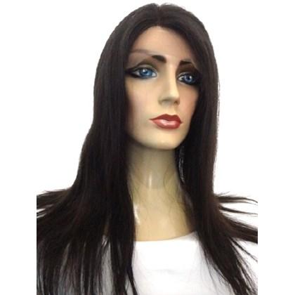 Full Lace Cabelo Humano, Peruca Modelo Especial, 60cm