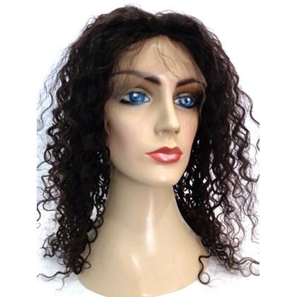 Full Lace de Cabelo Humano Modelo Especial, Castanho Natural, 40cm