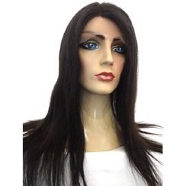 Full Lace de Cabelo Humano, Peruca Modelo Especial, 60cm