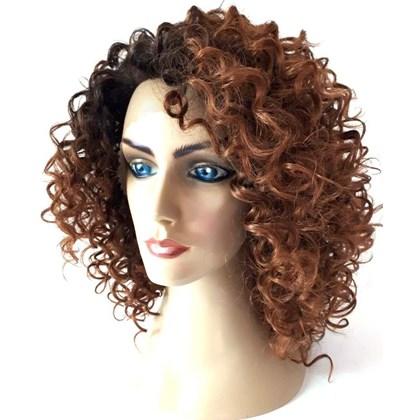 Lace Front Modelo JY-4291, Peruca em Fibra Orgânica Cacheada e Linda, Cor OT4/30, Beauty Hair