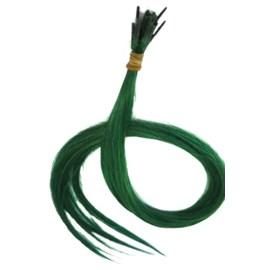 Mechas Queratinadas Cabelo Humano Liso Verde, 50cm - 30 Unid.