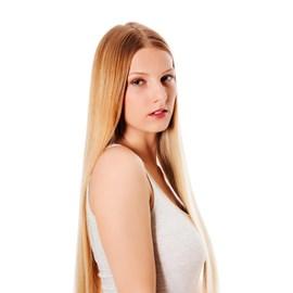 Mega Hair com Fita Adesiva, Cabelo Humano, Liso 55cm - Loiro 409