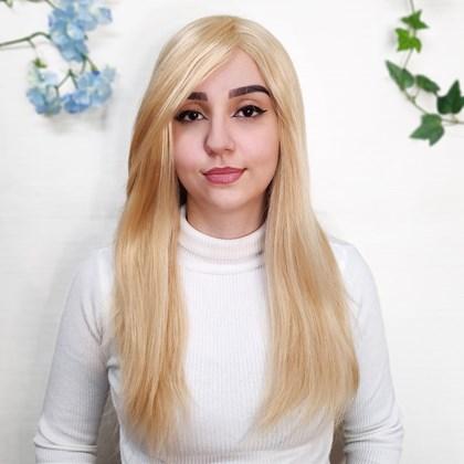 Peruca de Cabelo Humano Modelo Alice, Implantada, 40cm