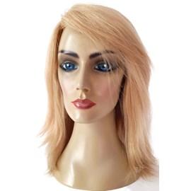 Peruca de Cabelo Humano Modelo Alice, Modelo Europeu, Implantada, Fios de 30cm