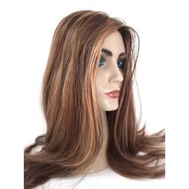 Peruca Judia JEWISH Cabelo Humano Tipo Silvia, Implantada Premium Hair, Cor 1304, 60cm
