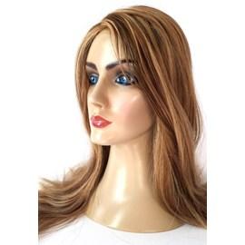 Peruca Judia JEWISH Cabelo Humano Tipo Silvia, Implantada Premium Hair Loiro Mesclado