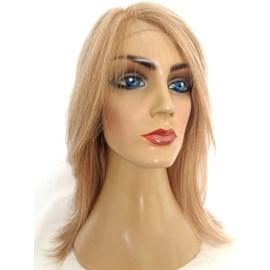 Peruca Silicone e Tela, Modelo Venus Feminina Implantada Cabeça Toda, Cabelo Humano Loiro