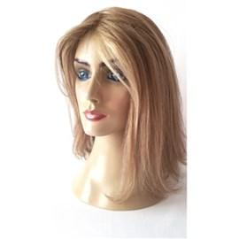 Prótese Capilar Feminina Cabelo Humano Modelo Magic, Loiro Mesclado, 30cm
